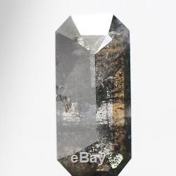 0.84 Ct Gorgeous Natural Salt and Pepper Diamond Emerald Rose Cut Loose Diamonds