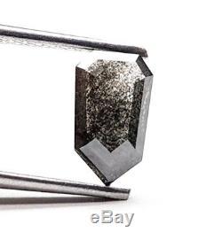 0.94 Carat Natural Diamond Kite Shape Rose Cut Salt and Pepper Loose Diamonds