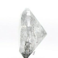 1.00 TCW Natural Diamond Oval Shape Gray Salt & Pepper Natural Loose Diamond