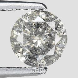1.00cts 6.2mm I-White Natural Loose Salt & Pepper Diamond SEE VIDEO