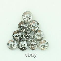 1.01 Carat Salt And Pepper Round Rose Cut Natural Loose Fancy Polished Diamond