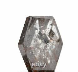 1.05ct Hexagon Rose Cut Salt and Pepper Diamond