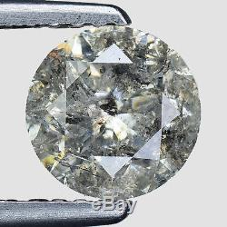 1.14cts 6.2mm Gray White Natural Loose Salt & Pepper Diamond SEE VIDEO