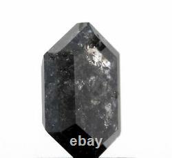1.16ct Hexagon Rose Cut Salt and Pepper Diamond
