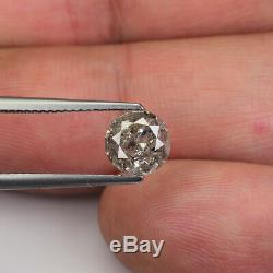 1.50cts 7.1mm Gray Brown Natural Loose Salt & Pepper Diamond SEE VIDEO