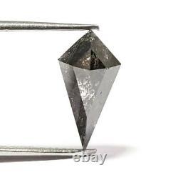 1.88 Carat Natural Diamond Rare Salt and Pepper Color Kite Shield Loose Diamond