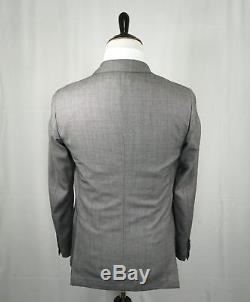 $1,920 LARDINI -Made In Italy Unlined Salt & Pepper Diamond Weave Light Suit-42R