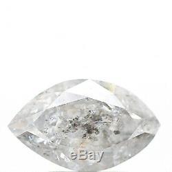 1.99 Carat Natural Loose Diamond White Salt and Pepper Marquise Diamond Rose Cut