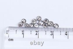 10pcs 2-4mm Natural Round Rose Cut Loose Diamond Salt & pepper Gray Diamonds Lot