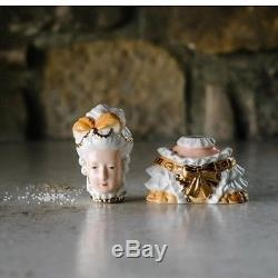 180 Degrees Ceramic Marie Antoinette Salt And Pepper Shaker In Gift Box