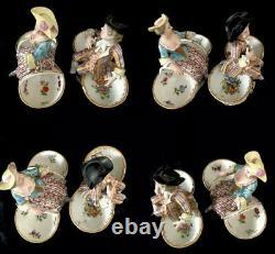 18th Century meissen porcelain Boy And Girl Salt And Pepper