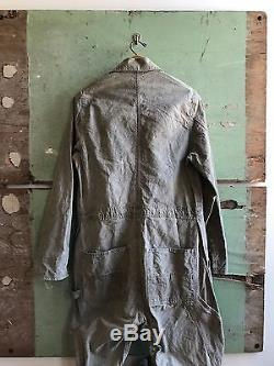 1930's/40's Size 38 Salt & Pepper Coveralls by Freeland Overall Manufacturing Co
