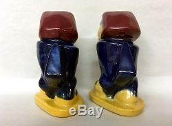 1940's-50's University of Kansas KU Jayhawk Salt & Pepper Shakers