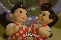 1951 Vintage Elias Brothers Big Boy Restaurant Salt & Pepper Shakers Japan