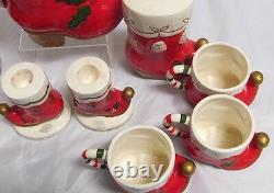1962 Napco Kelvin's Boot-Santa's Boot Set with Candle Holders/Salt Pepper MCM
