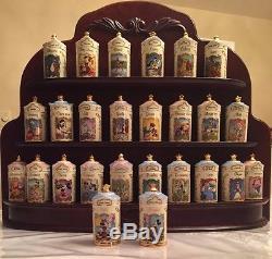 1995 LENOX DISNEY Spice Jar Complete with Rack BONUS Salt and Pepper