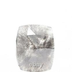 2.03 Carat Salt & Pepper Diamond Gray Cushion Cut Rose Cut Galaxy Loose Diamond