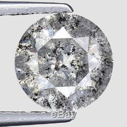 2.34cts 8.0mm Gray Natural Loose Salt & Pepper Diamond SEE VIDEO