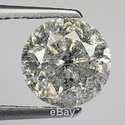 2.49cts 8.3mm Dark Gray Salt & Pepper Natural Loose Diamond SEE VIDEO