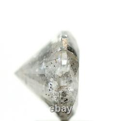 2.54 Carat Salt And Pepper Round Cut Icy Gray Natural Loose Diamond