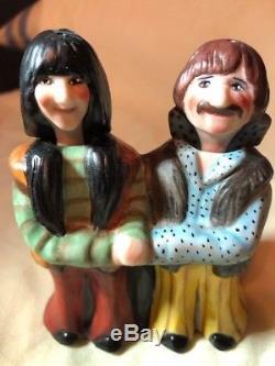 2009 NODDING Allyson Nagel POP LOVE Sonny & Cher NODDER Salt & Pepper Shakers