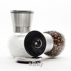 2lb Depot Premium Stainless Steel Salt and Pepper Grinder Set Brushed, New