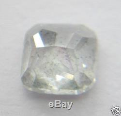 3.02Cts Natural White Galaxy/Salt & Pepper Cushion Shape Rose Cut Diamond