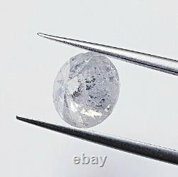 3.33ct Salt & Pepper Natural Round Diamond F Color I2 Clarity (Watch Video)