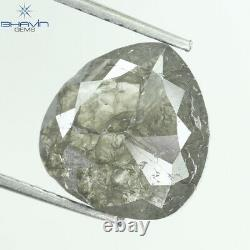 3.37 CT Natural loose Pear Gray Salt And pepper I3 Clarity diamond For N17-20