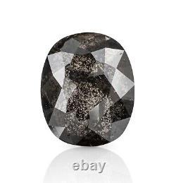 3.41 Ct. Salt & Pepper Natural Diamond Oval Cut