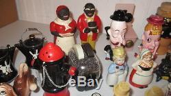 45+ Sets Lot Vintage Salt And Pepper Shakers Nodder Black Americana Bakelite