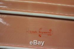 4pc Set Vintage Lindt-Stymeist COLORWAYS Butter Dish withLid, Salt Pepper Shakers