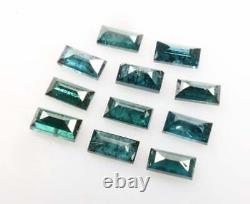 5 Pcs Blue Salt and pepper Baguette diamond 3.0mm Natural loose Baguette diamond