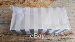 56 Salt Pepper Shaker Napkin Set with Metal Stand Wedding Favor, New & Pre-Wrapped