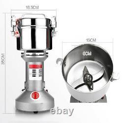 750G High Speed Electric Herb Grain Grinder Cereal Mill Flour Powder Q