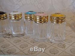 8 sets David Andersen sterling guilloche salt pepper shakers withbox