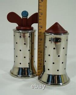 Alessi Michael Graves Post-Modern Stainless Salt Caster & Pepper Mill Grinder