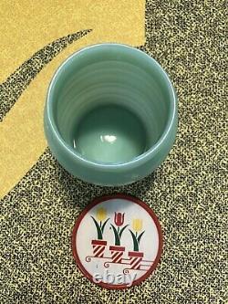 Anchor Hocking Fire King Jadeite Grease Jar and Salt & Pepper Shakers Set EUC
