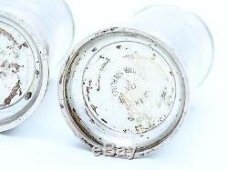 Antike SALZ und PFEFFER STREUER / MODELL SILVER ROSE / 925 STERLING SILBER