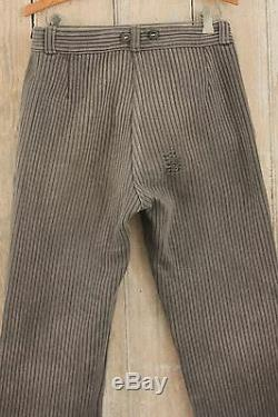 Antique Slacks French Pants salt & pepper Chore Work Wear trouser 30 inch waist