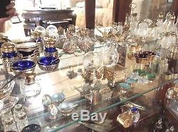 Antique Sterling Silver Salt & Pepper Shakers Complete Collection MUST SEE