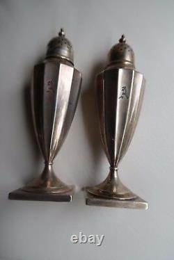 Antique Victorian Tiffany & Co. 925 Sterling Silver Salt & Pepper Shakers 125gr