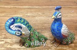 Artesian Road Tracy Porter Flowers Peacock Bamboo Figural Salt Pepper Shaker Set