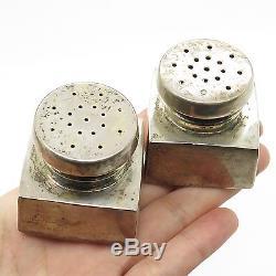 B&M Vtg 925 Sterling Silver Salt And Pepper Shakers