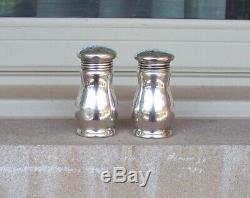 B&O BALTIMORE & OHIO Railroad Dining Car Silver Salt & Pepper Shakers