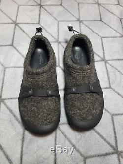 B9 PATAGONIA Salt and Pepper Moccasin Wool Women Sz9.5 Shoes T50572 (EXCLUSIVE)