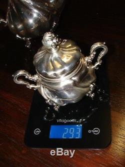 BEAUTIFUL-10 Piece Sterling Serving Set! COFFEE-TEA-CREAMER-SUGAR-SALT/PEPPER+++