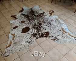 BRAZILIAN COWHIDE RUG- Extra Large Chocolate Salt and Pepper