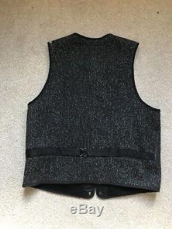 BROWNS BEACH VEST JACKET Salt & Pepper MADE IN JAPAN STYLE 524 Sz42 Large