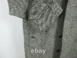 BURBERRY Vtg Donegal Tweed Coat Sz 40S Wool Salt & Pepper Made in England